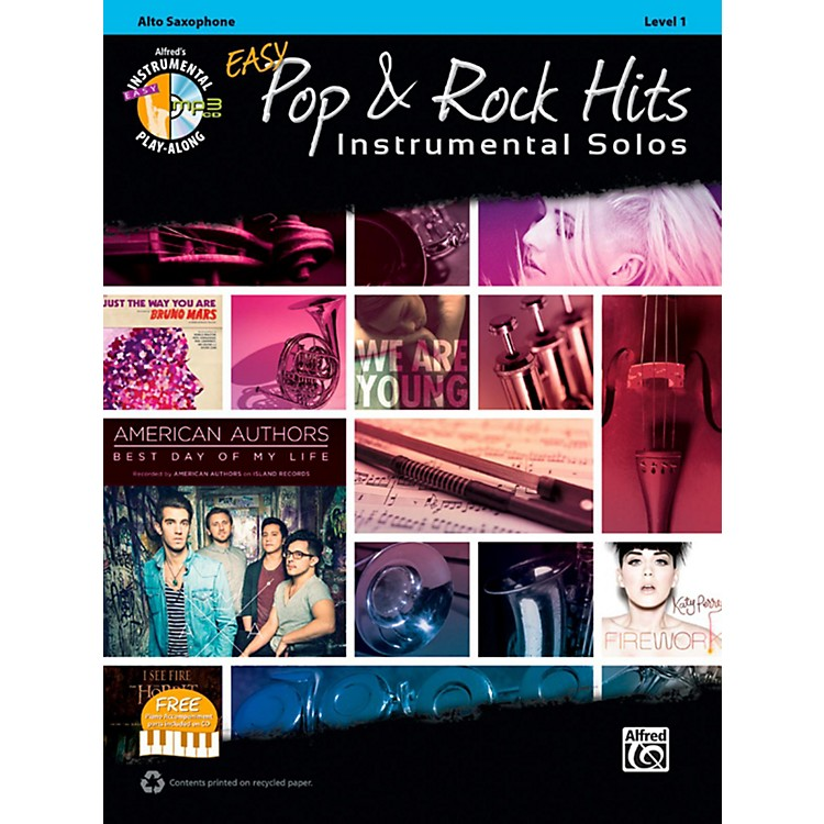 AlfredEasy Pop & Rock Instrumental Solos Alto Sax Book & CD