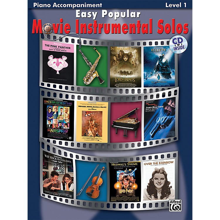 Alfred Easy Popular Movie Instrumental Solos Piano Accompaniment