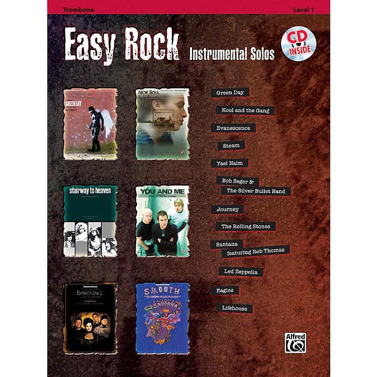 AlfredEasy Rock Instrumental Solos Level 1 Trombone Book & CD