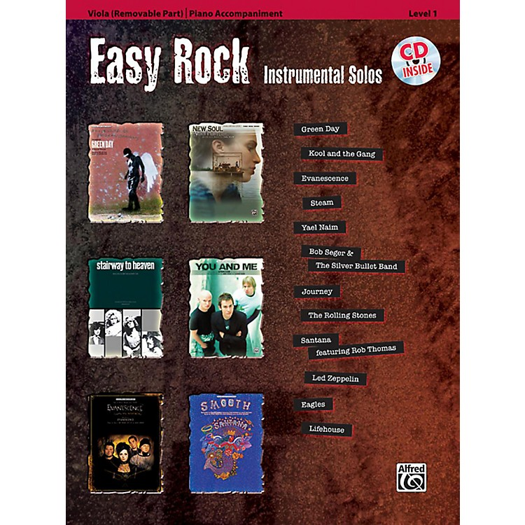 Alfred Easy Rock Instrumental Solos Level 1 for Strings Viola Book & CD