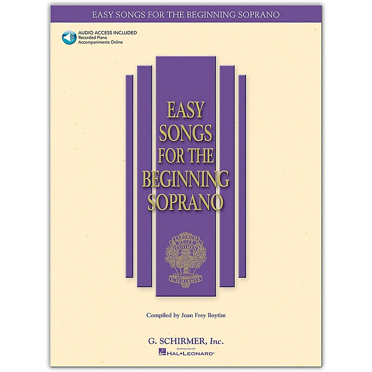 G. Schirmer Easy Songs for The Beginning for Soprano Book/CD