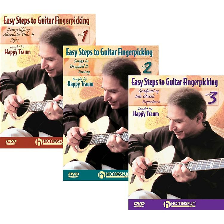 HomespunEasy Steps To Guitar Fingerpicking 1,2&3 (DVD)