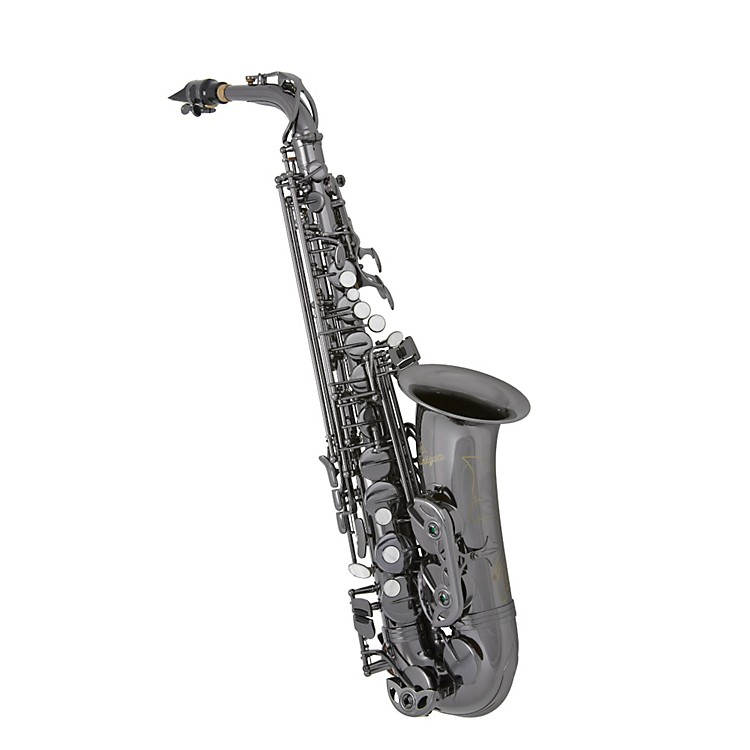 Antigua Winds Eb Alto Saxophone Black Nickel Plated Black nickel plated keys