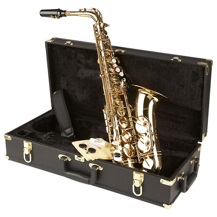 Antigua Winds AS4240 Power Bell Series Professional Eb Alto Saxophone Silver Plated Body Gold plated keys