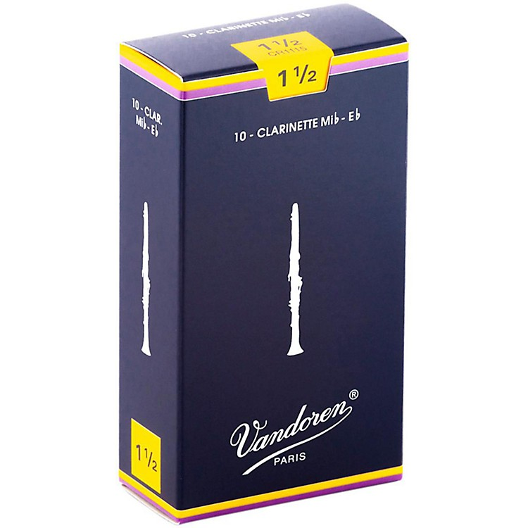 Vandoren Eb Clarinet Reeds Strength 1.5 Box of 10