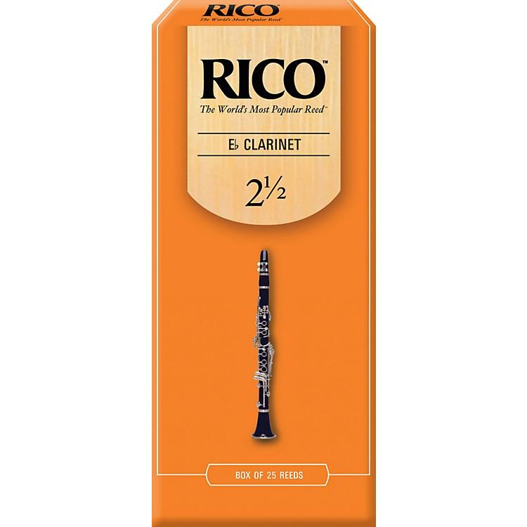 RicoEb Clarinet ReedsStrength 2.5Box of 25