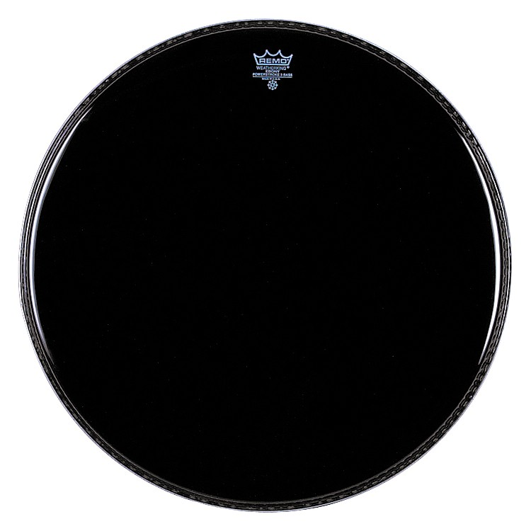 Remo Ebony Powerstroke 3 Resonant Bass Drum Head  24 in.