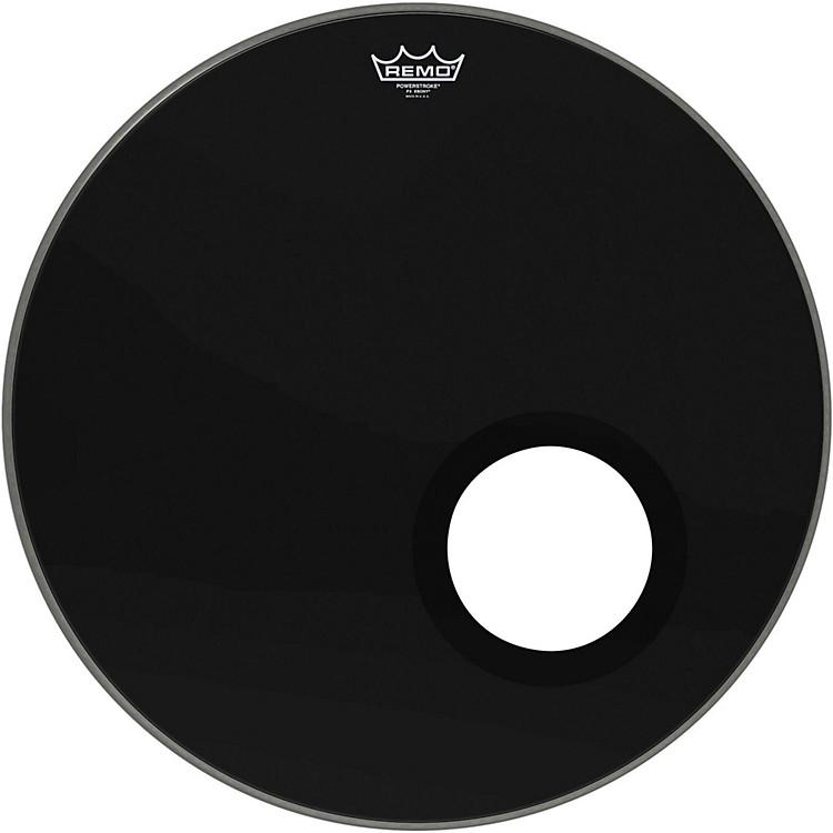 RemoEbony Powerstroke 3 Resonant Bass Drum Head with 5 Inch Port HoleEbony22 in.