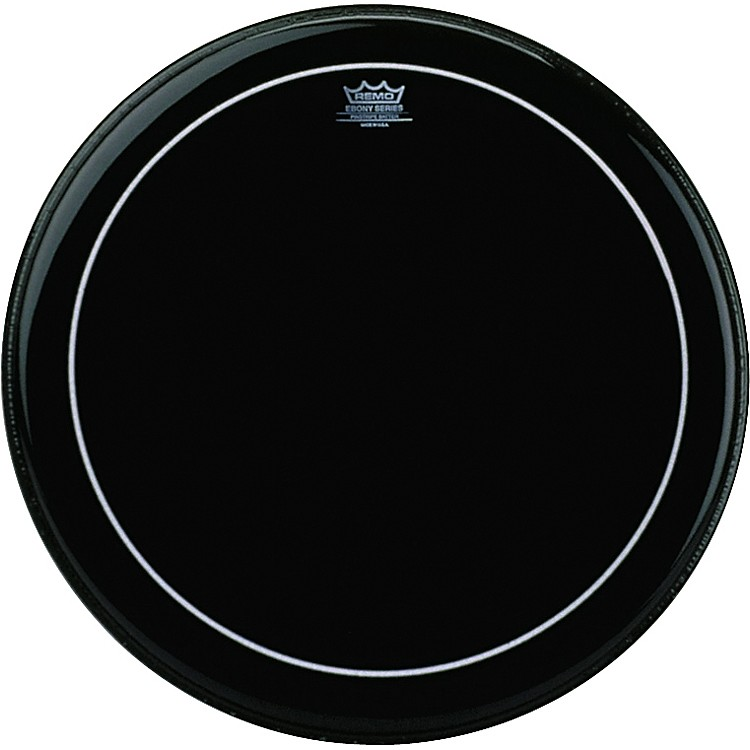Remo Ebony Series Pinstripe Bass Drumhead  20 in.