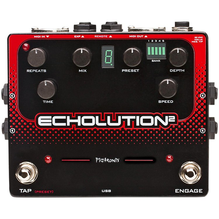 PigtronixEcholution 2 Guitar Effects Pedal