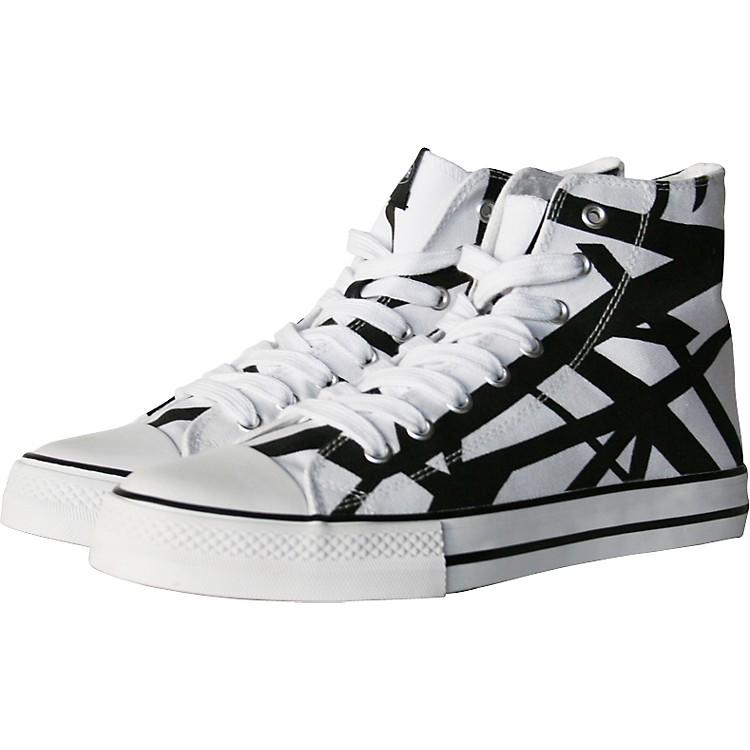 EVHEddie Van Halen High Top Sneakers - White with Black Stripes