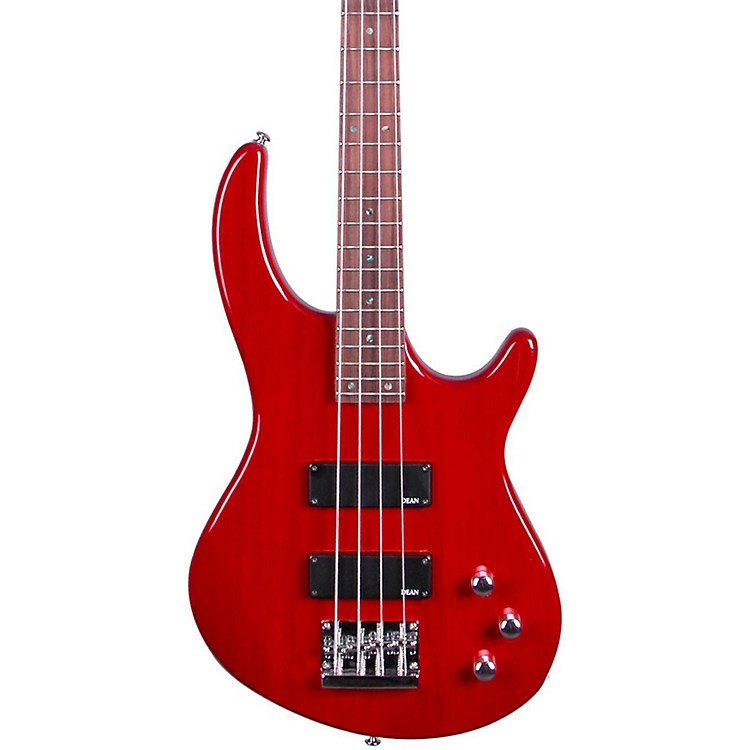 Dean Edge 1 Electric Bass Guitar Transparent Red