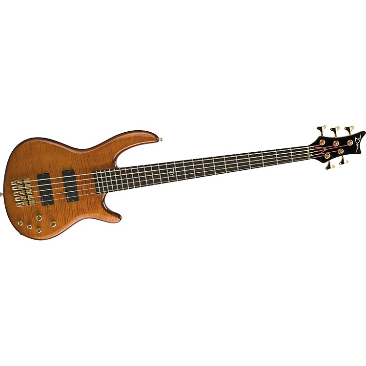 Dean Edge Pro5 5-String Bass Guitar Transparent Amber