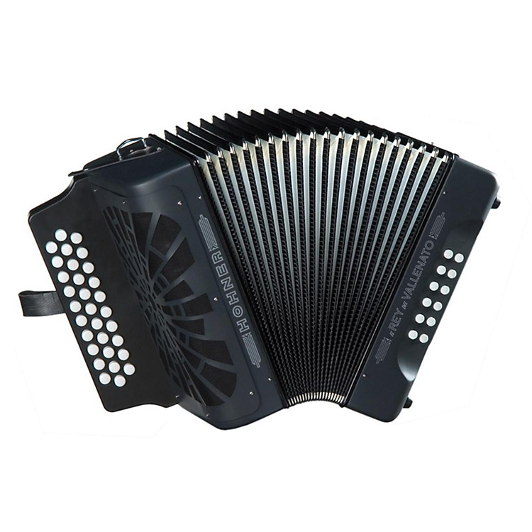 Hohner El Rey Del Vallenato GCF Accordion Black