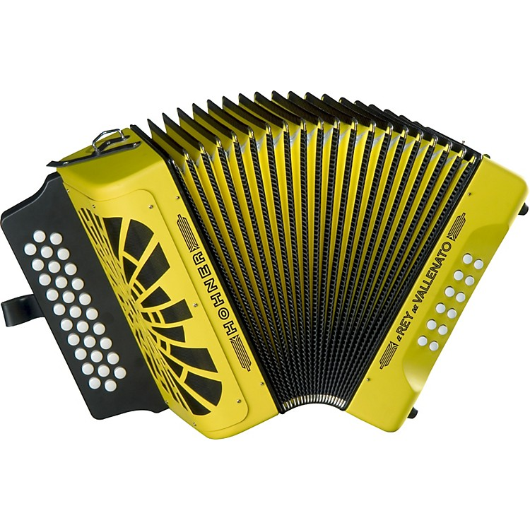 Hohner El Rey Del Vallenato GCF Accordion Yellow