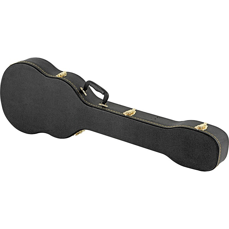 Musician's Gear Electric Bass Case Violin Shaped Black