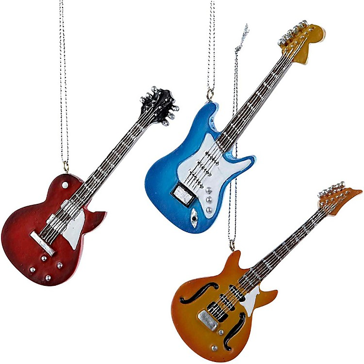 Kurt S. Adler Electric Guitar Ornament 3/Assorted