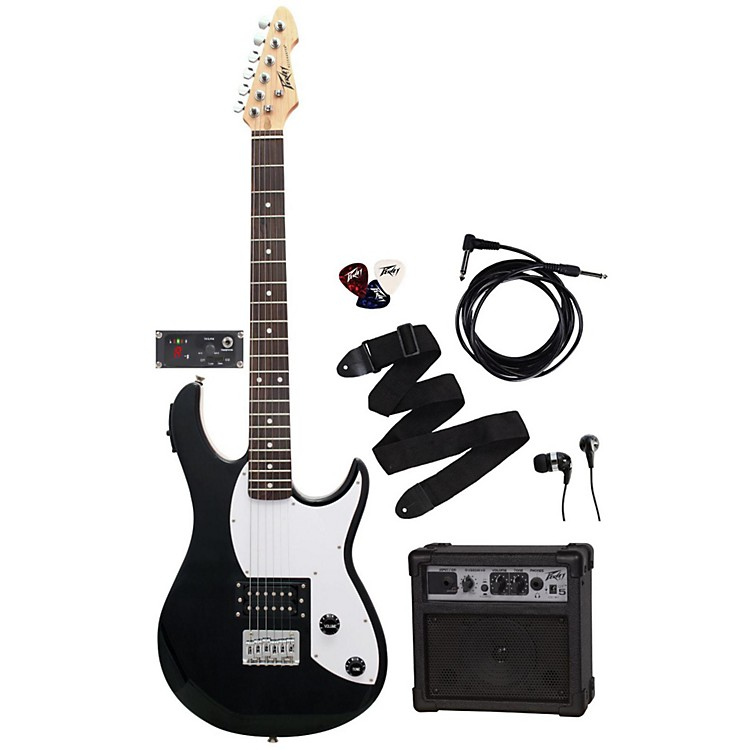 Peavey Electric Guitar Pack Rockmaster 5 in 1 with GT5 Amp Black