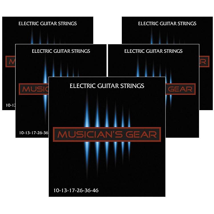 Musician's GearElectric Nickel Plated Steel Guitar Strings 10-46 - 5-Pack