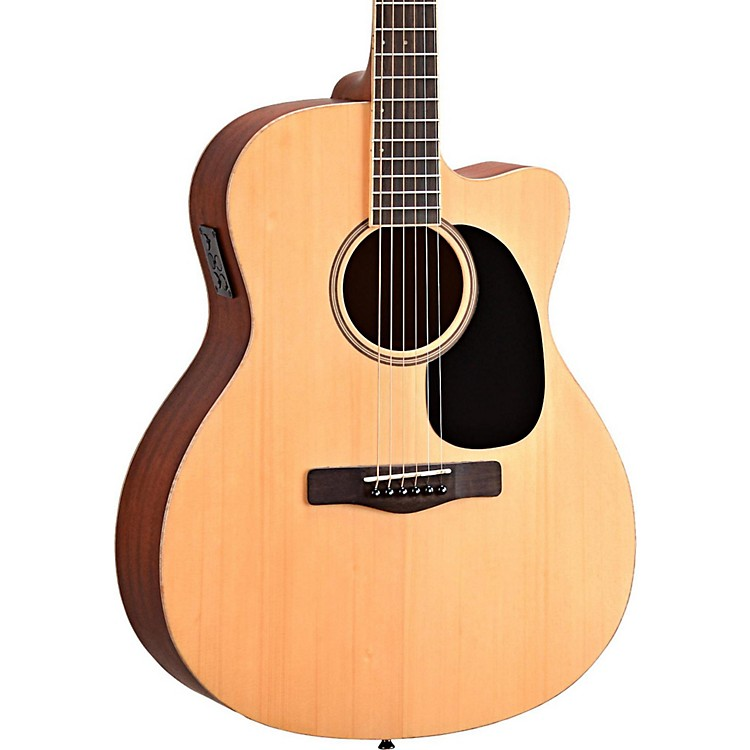 Mitchell Element Series ME1ACE Auditorium Cutaway Acoustic-Electric Guitar Natural Striped Sapele, Solid Spruce top