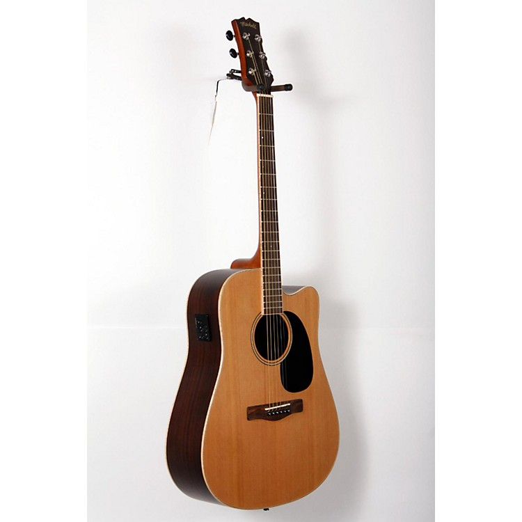 Mitchell Element Series ME2CEC Dreadnought Cutaway Acoustic-Electric Guitar Natural, Indian Rosewood back/sides, Solid Red Cedar top 888365813134