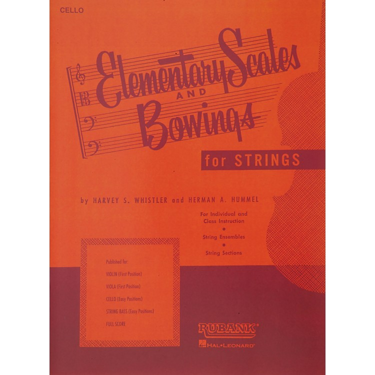Hal LeonardElementary Scales And Bowings - Cello