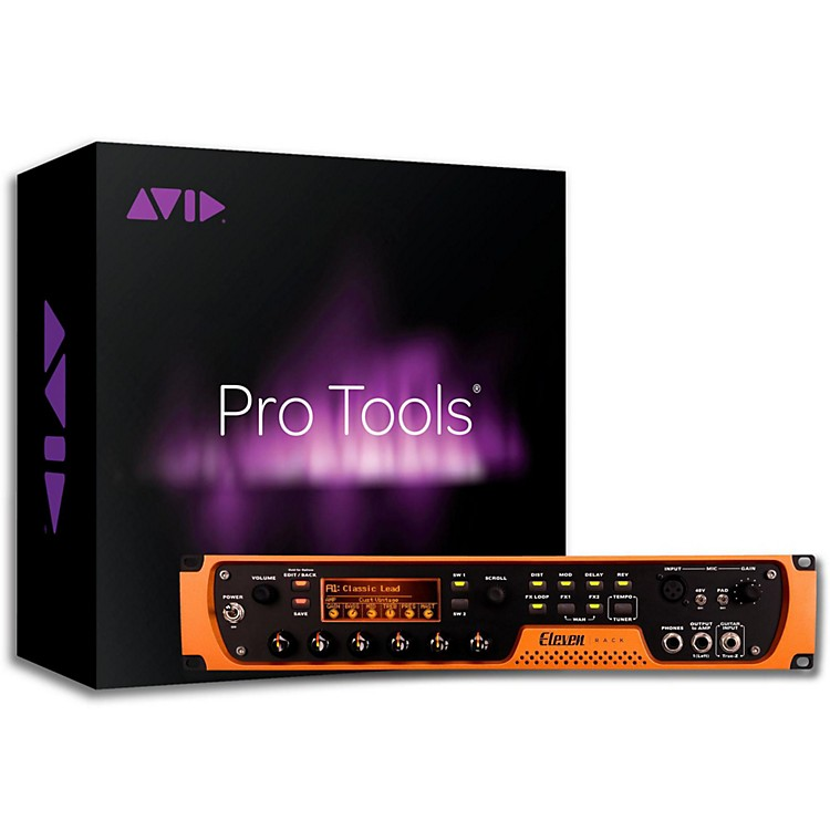 AvidEleven Rack Guitar Multi Effects Processor with Pro Tools Subscription