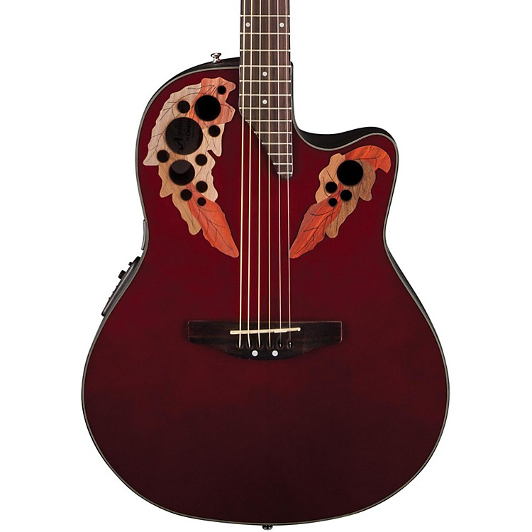 Applause Elite Mid-Depth Bowl Acoustic-Electric Guitar Ruby Red