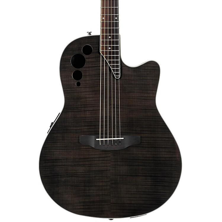 ApplauseElite Series AE44IIP Acoustic-Electric GuitarTransparent Black Flame