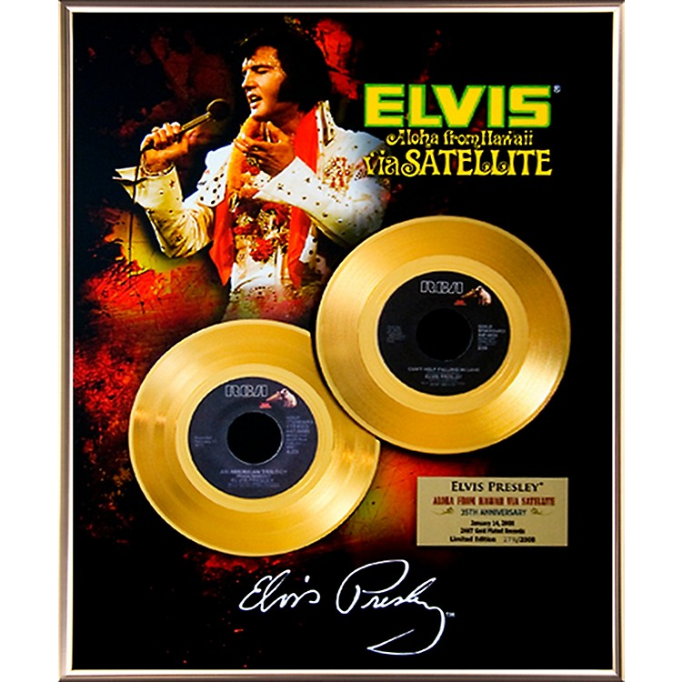 24 Kt. Gold RecordsElvis Presley - Aloha From Hawaii 35th Anniversary Gold 45 Limited Edition of 2008
