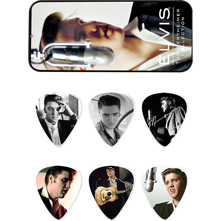 Dunlop Elvis Presley Wertheimer Collection Pick Tin with 6 Medium Picks