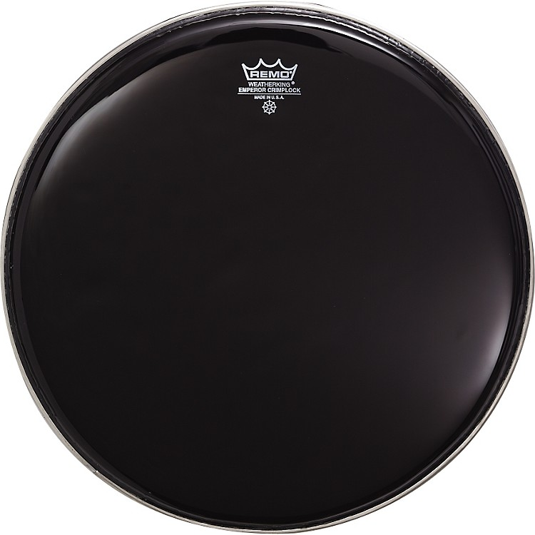 Remo Emperor Crimplock Marching Drumhead Ebony