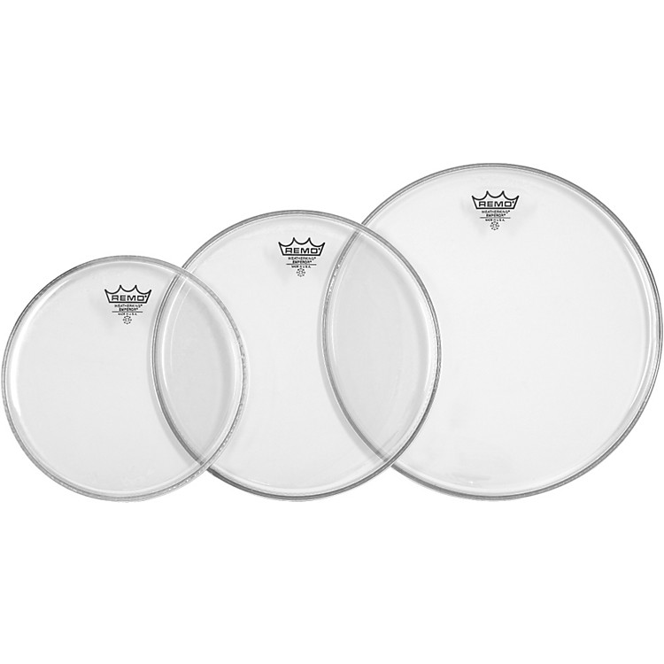 Remo Emperor Tom Drumhead Pack Fusion Clear