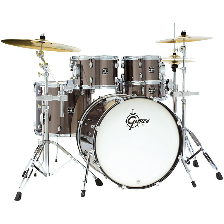 Gretsch Drums Energy 5-Piece Drum Set With Hardware and Sabian Cymbals Gray Steel