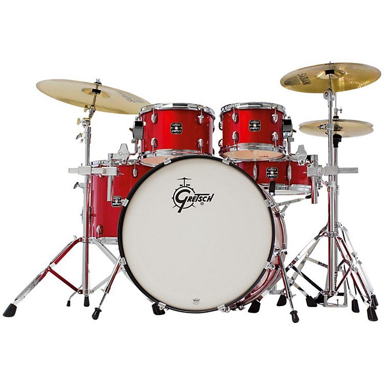 Gretsch Drums Energy 5-Piece Drum Set with Hardware and Sabian SBR Cymbals   Red