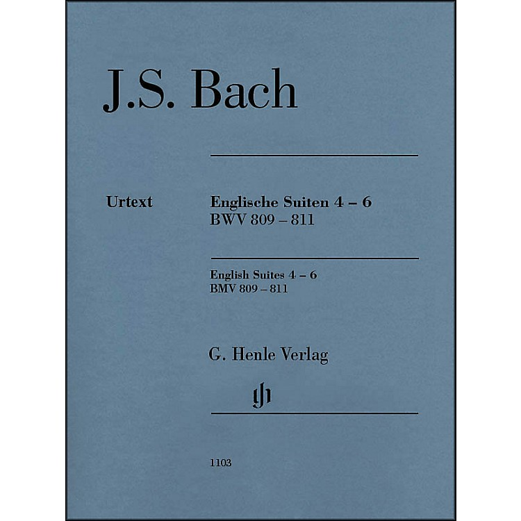 G. Henle VerlagEnglish Suites 4-6 BWV 809-811 By Bach