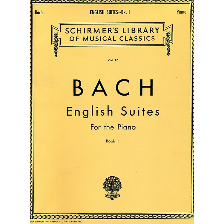G. SchirmerEnglish Suites for Piano Book 1 By Bach