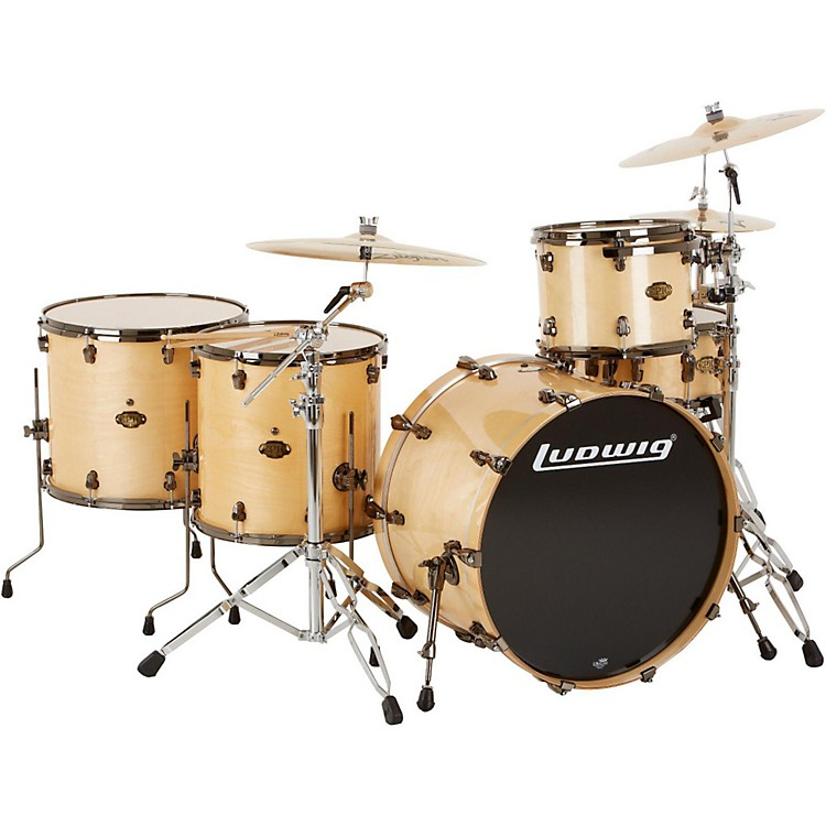 Ludwig Epic Pro Beat 5-Piece Shell Pack Natural Birch