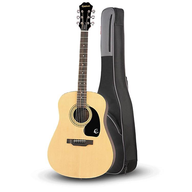 EpiphoneEpiphone DR-100 Acoustic Guitar Natural with Road Runner RR1AG Gig Bag