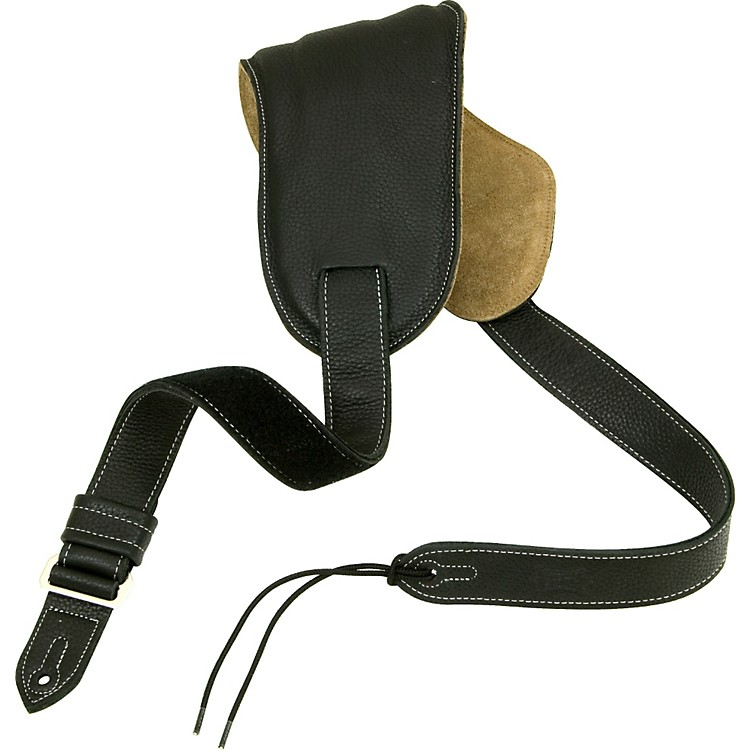 Levy's Ergonomic Bass Guitar Strap with Contoured Moveable Pad Black