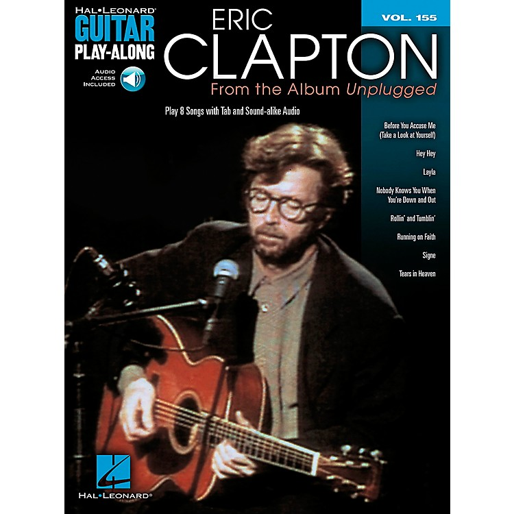 Hal LeonardEric Clapton - From The Album Unplugged - Guitar Play-Along Volume 155 Book/CD