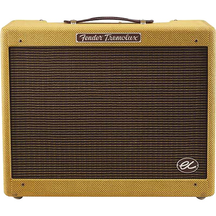 Fender Eric Clapton Signature EC Tremolux 12W 1x12 Hand-Wired Tube Guitar Combo Amp Tweed