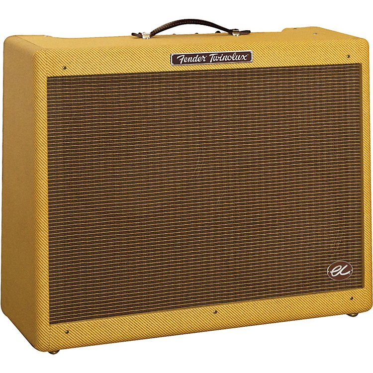 Fender Eric Clapton Signature EC Twinolux 40W 2x12 Hand-Wired Tube Guitar Combo Amp Tweed TWEED