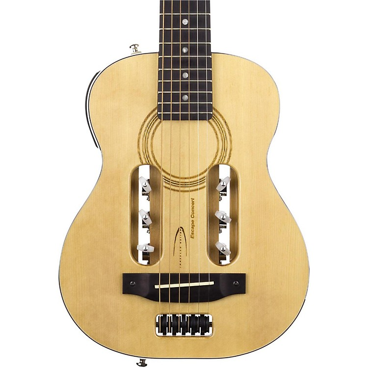 Traveler Guitar Escape Concert Steel-String Acoustic-Electric Guitar Natural