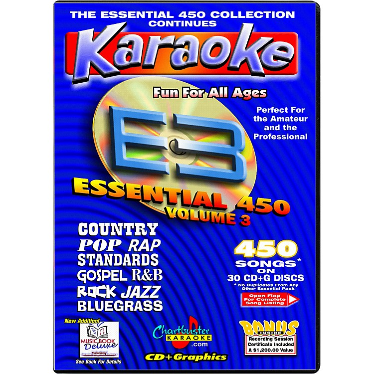 Chartbuster Karaoke Essential 450 Volume 3 CD+G