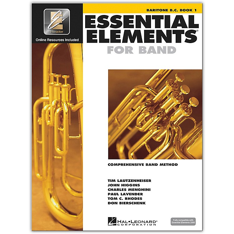 Hal Leonard Essential Elements For Band - Baritone BC Book 1 With EEi (Book/CD-ROM)
