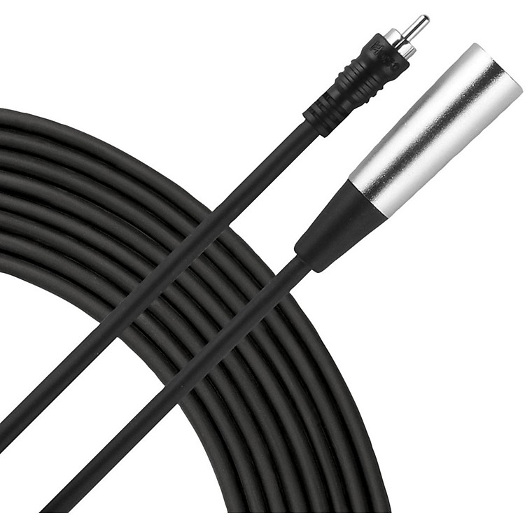 Livewire Essential Interconnect Cable RCA Male to XLR Male 10 ft. Black
