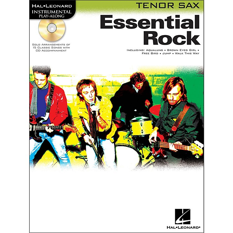 Hal Leonard Essential Rock for Tenor Sax Book/CD Instrumental Play-Along