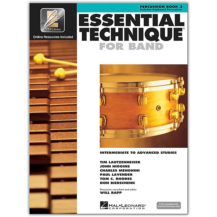 Hal Leonard Essential Technique for Band - Percussion and Keyboard Percussion (Book 3 with EEi)