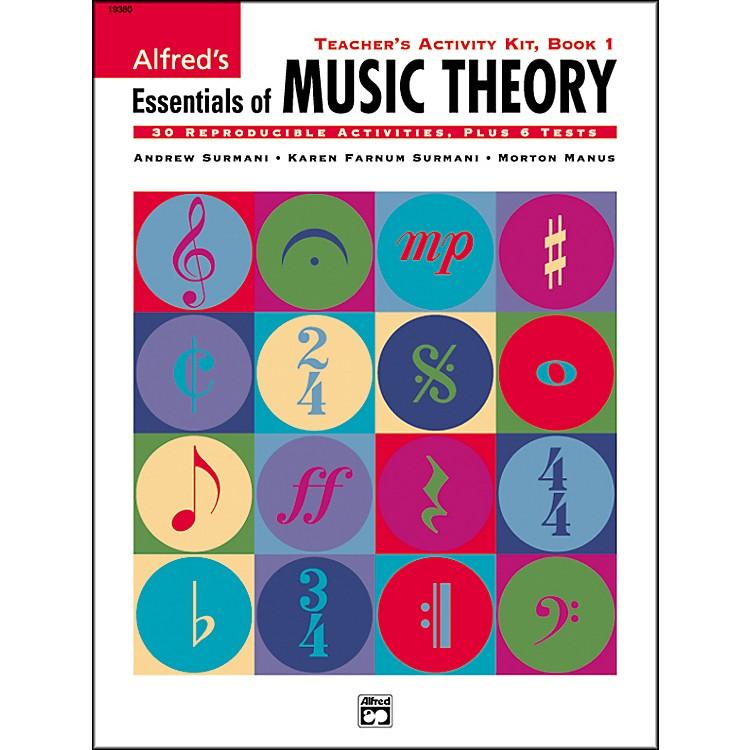AlfredEssentials Of Music Theory SeriesTeacher Activity Book 1